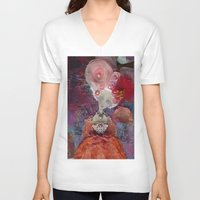 marie antoinette V-neck T-shirts featuring Marie Antoinette by inara77