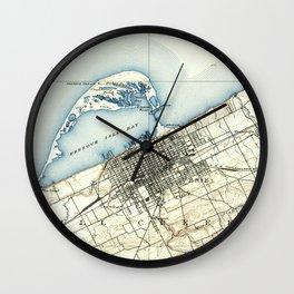Vintage Map of Erie Pennsylvania (1899) Wall Clock