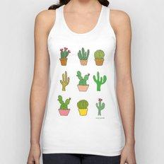 Colorful cactus Unisex Tank Top