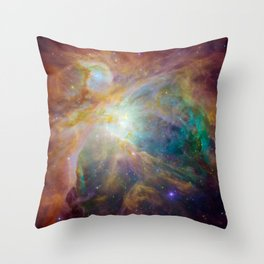 Heart of Orion Nebula Space Galaxy Throw Pillow