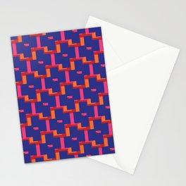 Geometrix / Deep Blue Stationery Cards