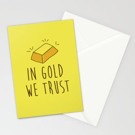 In Gold we trust! Stationery Cards