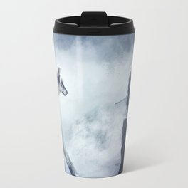 The wolf and the moon Travel Mug