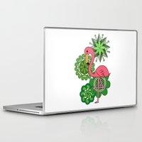 flamingo Laptop & iPad Skins featuring Flamingo by tamaradeborah