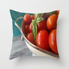 Cherry tomatoes Throw Pillow