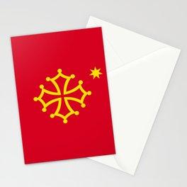 Flag of occitanie Stationery Cards