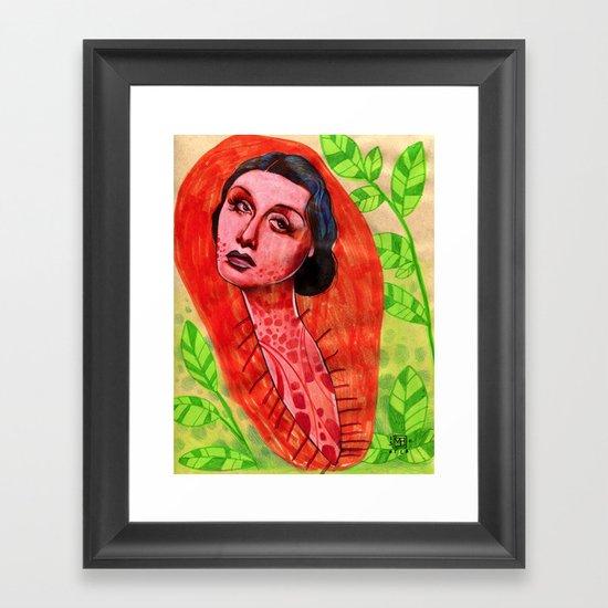 SAD CHRYSALIS Framed Art Print