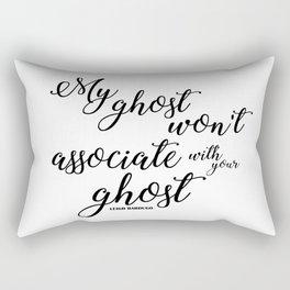 ghost (six of crows) Rectangular Pillow