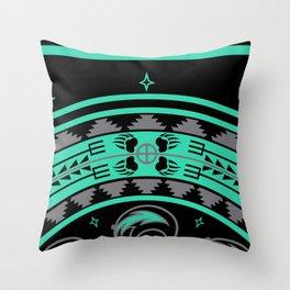 Bear Spirit (Aqua) Throw Pillow
