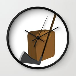 Blade and Block Wall Clock