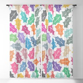 Colorful leaves II Sheer Curtain