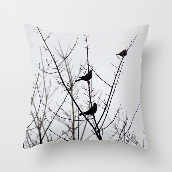 Resting Birds Throw Pillow