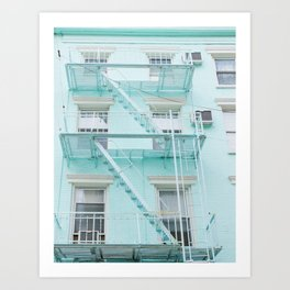 Blue in NYC Art Print