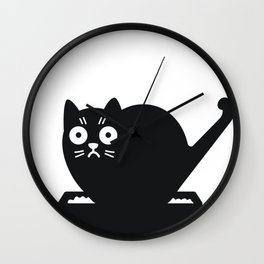 Surprised cat! Wall Clock