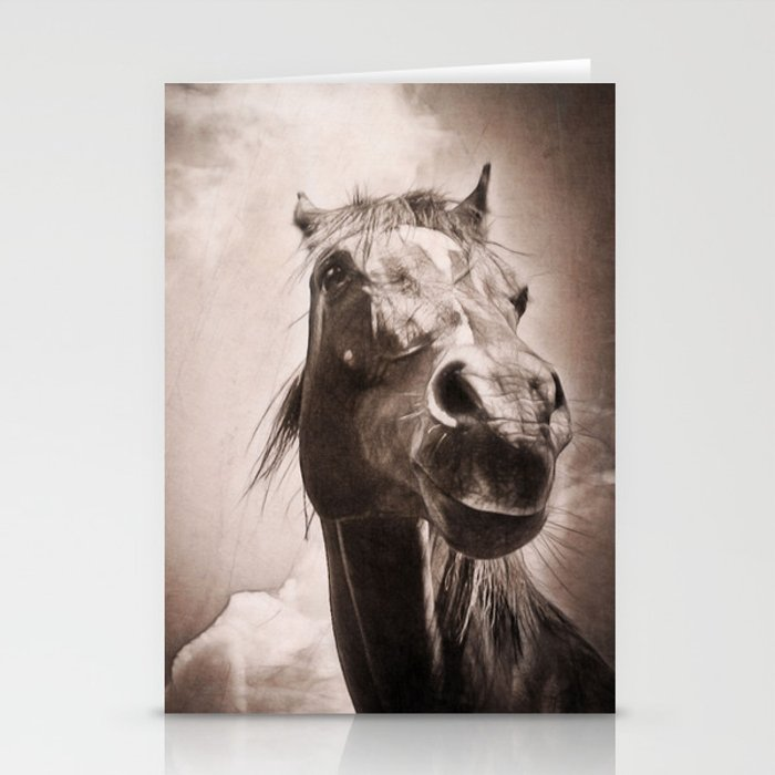 Arabian Horse Spring Storm  Stationery Cards