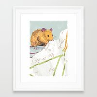 mouse Framed Art Prints featuring Mouse by Louise Hubbard