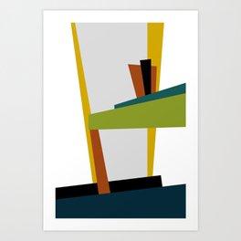 Mid Century Composition 2 Art Print