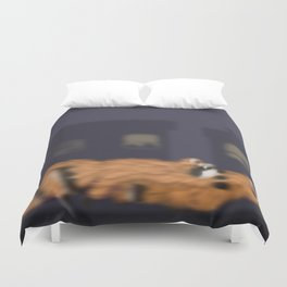 Raccoon Series: Out on the Town Duvet Cover