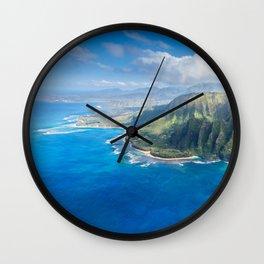 Na Pali approaching Hanalei Wall Clock