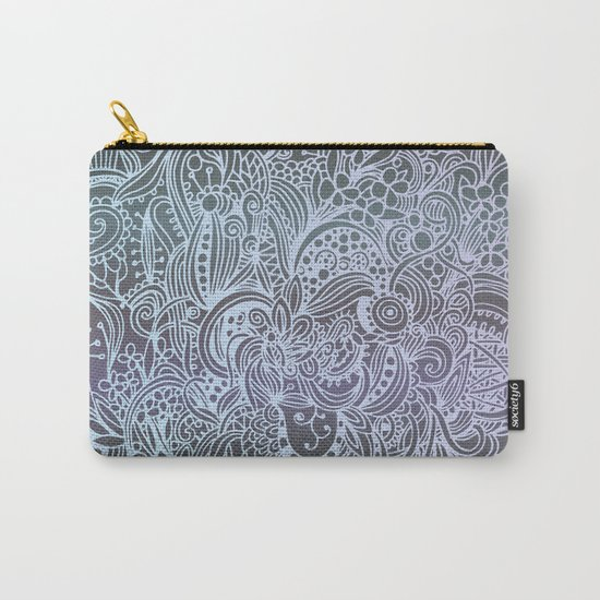 Detailed square, grey'n wedgwood Carry-All Pouch