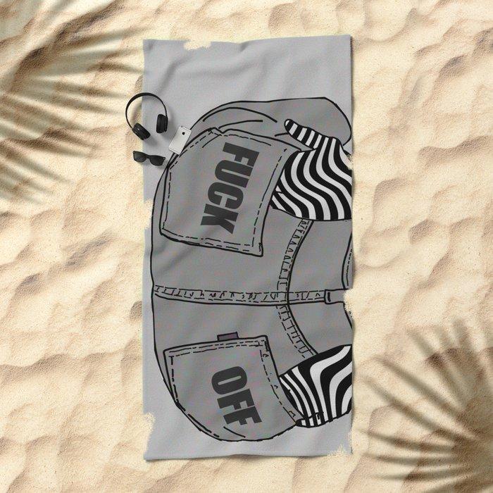 DENIM GIRL Beach Towel