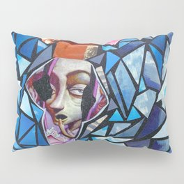 Blooming woman from Mother Earth Collage Pillow Sham