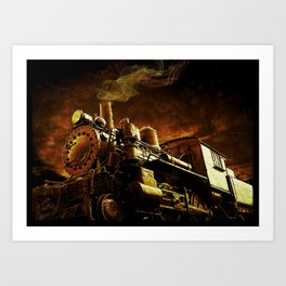 Casey Jones and the Cannonball Express Art Print