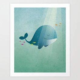 Whale print Art Print