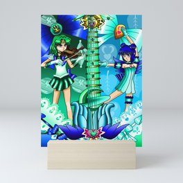 Sailor Mew Guitar #51 - Sailor Neptune & Mew Minto Mini Art Print