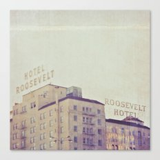 Hotel Roosevelt Hollywood photograph, Los Angeles Canvas Print