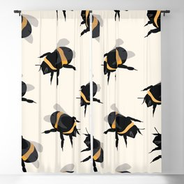 Bumble Bee Print Blackout Curtain
