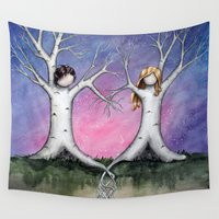 tangled Wall Tapestries featuring Tangled by Marcia Furman