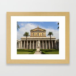 Basilica of St Paul Outside the Walls Framed Art Print