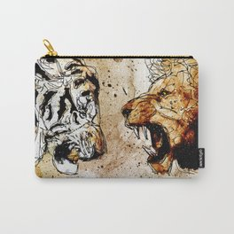 Lion vs Tiger Carry-All Pouch