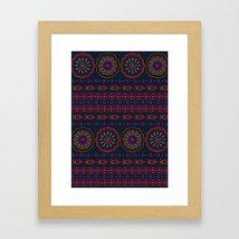 Henna pattern print - Dani Framed Art Print