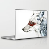 coyote Laptop & iPad Skins featuring Coyote I by Susana Miranda ilustración