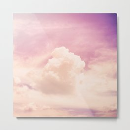 Freedom and Dreams, Pink Sky and Clouds, Heaven Metal Print