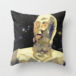 C3po Poly Art Throw Pillow
