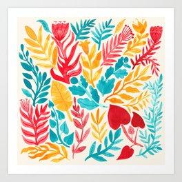 The Brightest Leaves Art Print
