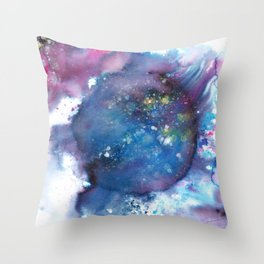 Blue Abstract Art Painting Throw Pillow