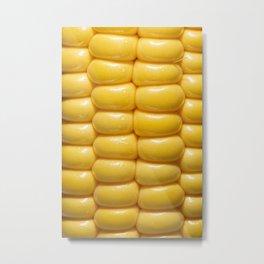 Macro photo of corn Metal Print