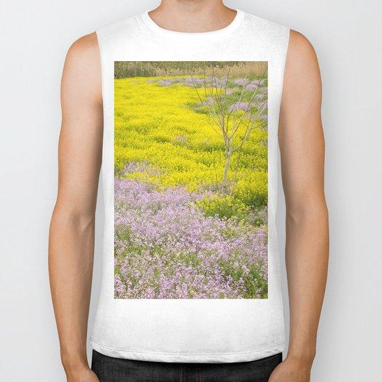 Spring flowers Biker Tank
