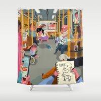 budapest Shower Curtains featuring Budapest underground by Zsolt Vidak