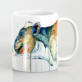 Dairy Cow - Feeling Blue - Watercolor Painting Coffee Mug