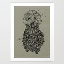 Dead Hipster Art Print