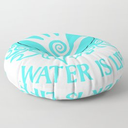 I stand with standing rock Floor Pillow