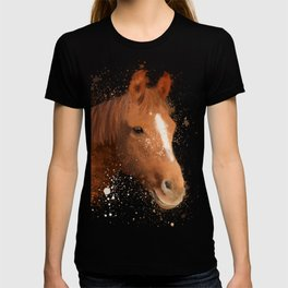 Brown and White Horse T-shirt