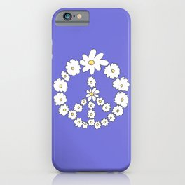 Hippy flowers clipart. 60's70's iPhone Case