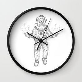 Diver (Nautical Collection) - Black Wall Clock