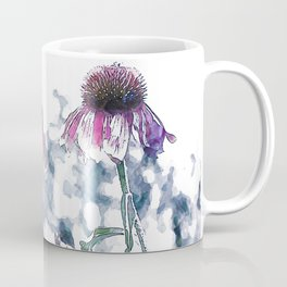 Cone Flowers/ Echinacea Art Coffee Mug